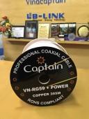 Dây liền nguồn Lblink Captain RG59 ko dầu ( trắng)