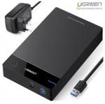 Hộp đựng ổ cứng 3.5 inch Sata/USB 3.0 hỗ trợ 10TB chính hãng Ugreen 50422 cao cấp